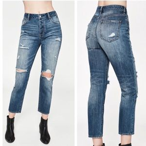PacSun Distressed High Rise Cropped Mom Jean-26